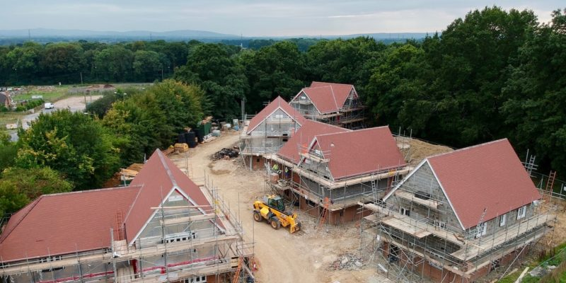 Latest photo of the new Bolney affordable homes
