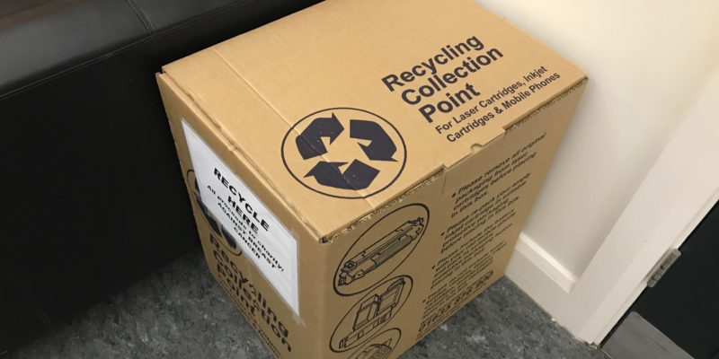 Recycle your ink cartridges and mobile phones
